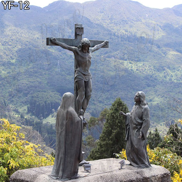 Great standing religious bronze Jesus statues for church