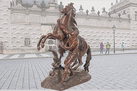 Decorative outdoor famous Bronze Marley horse sculptures