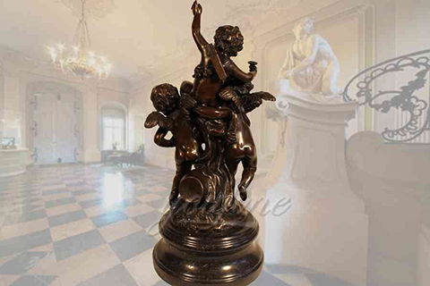 Hot sale superb indoor casting bronze cherub statue