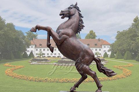 Outdoor Antique Jumping Bronze Horse Statu