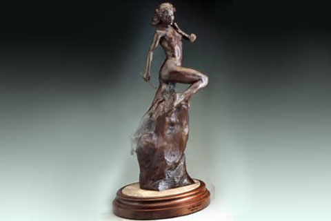 Classical decorative garden bronze self made woman