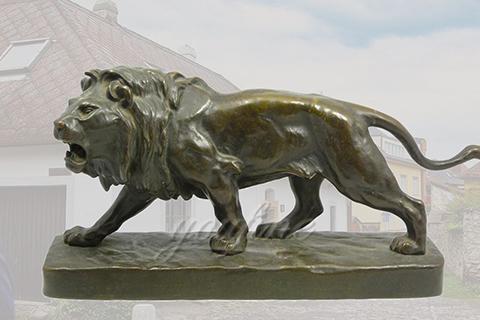 Life Size Bronze Standing Lion Statue