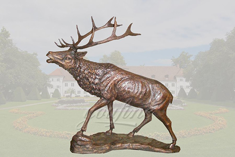 life size metal craft bronze deer statues of brass