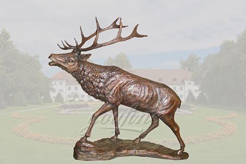 life size metal craft bronze deer statues of brass