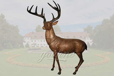 outdoor garden life size brass deer sculpturesoutdoor garden life size brass deer sculptures