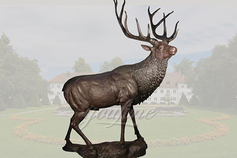 Decorative casting bronze deer sculpturesDecorative casting bronze deer sculptures