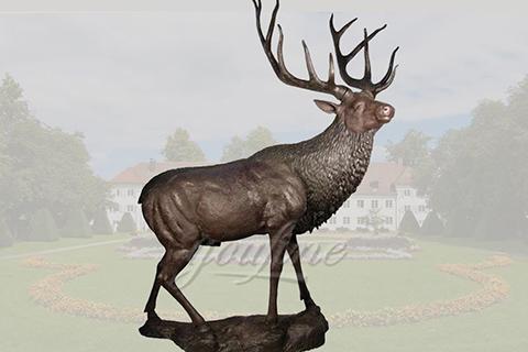 Decorative casting bronze deer sculpturesDecorative casting bronze deer sculptures