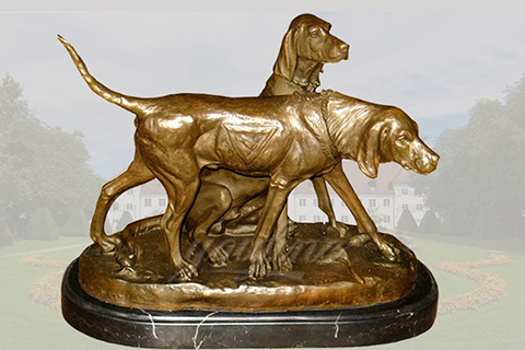 Life size bronze greyhound dog statues