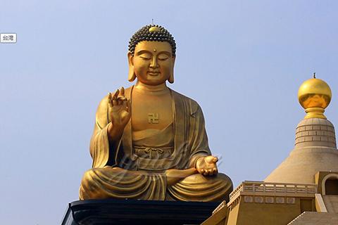 Large outdoor oriental bronze Tathagata buddha statues