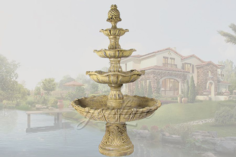 Decorative antique garden bronze tired fountains for sale