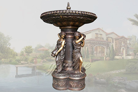 Superb large garden elegant lady bronze statues fountain for sale
