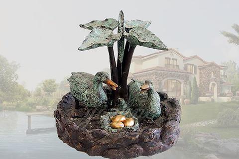 Lovely garden animal casting bronze ducks fountain for sale
