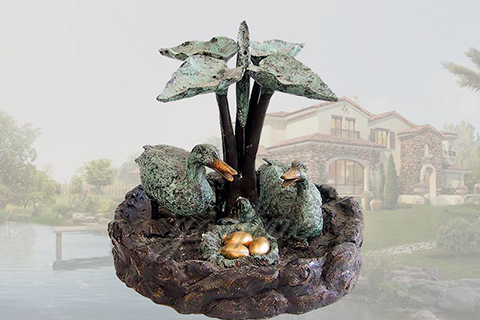 Large three tired garden bronze horses fountain with lion heads