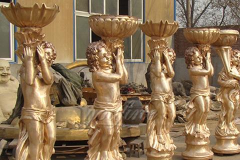 Outdoor Garden Bronze Flowerpot