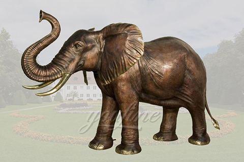 Customize life size bronze elephant sculptures