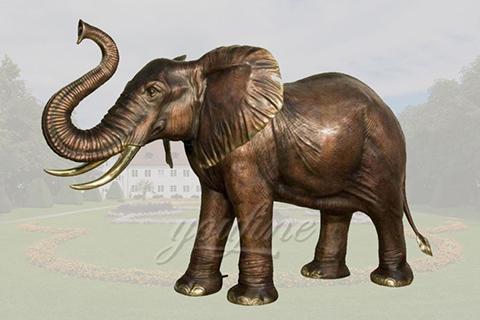 Customize life size bronze elephant sculptures