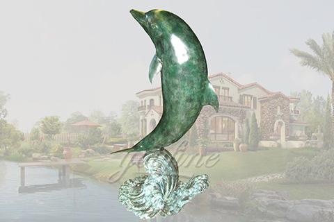 life size garden bronze dolphin sculptures