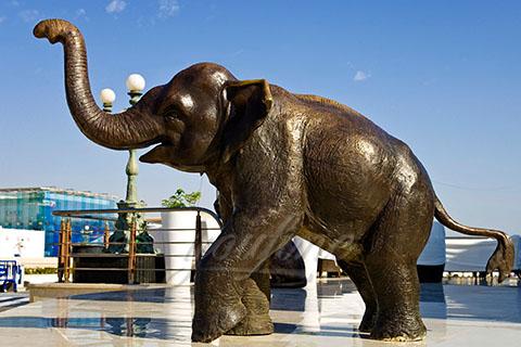 Handmade antique bronze elephant animal sculptures
