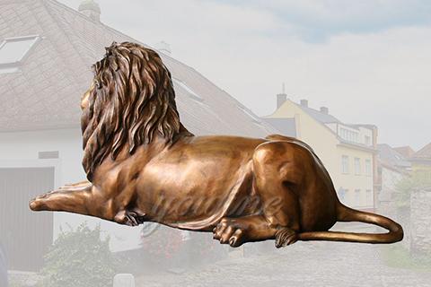 Decoration casting bronze lion statue