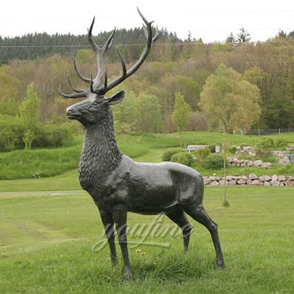 Outdoor life size bronze deer statues for sale