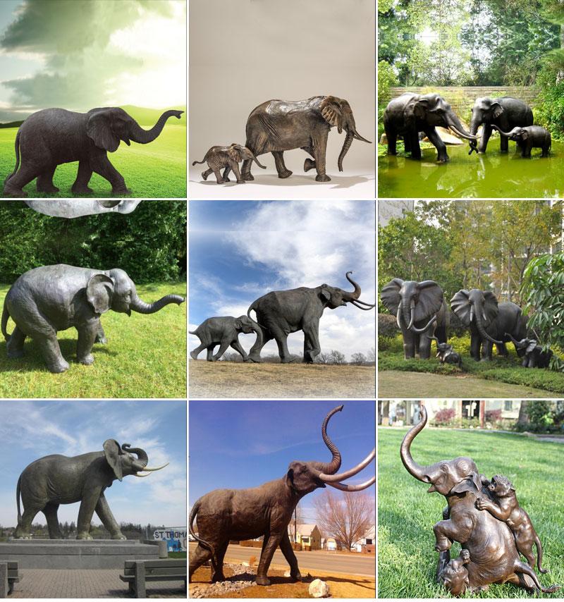 elephant statue bronze