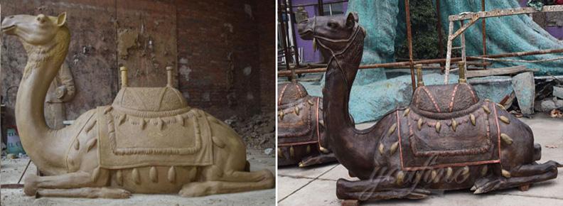 Bronze miniature camel figurine