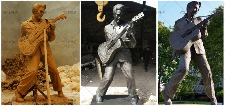 Life Size Famous Bronze Elvis Presley Statue