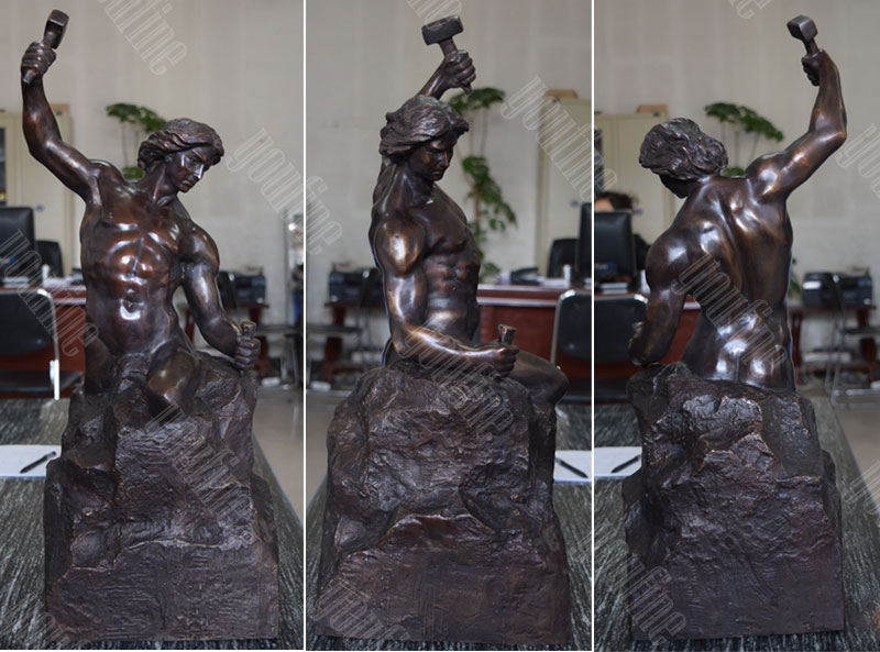18 inch and 24 inch casting bronze self made man statue for sale