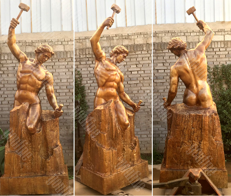 famous casting bronze self made man statue designs for sales