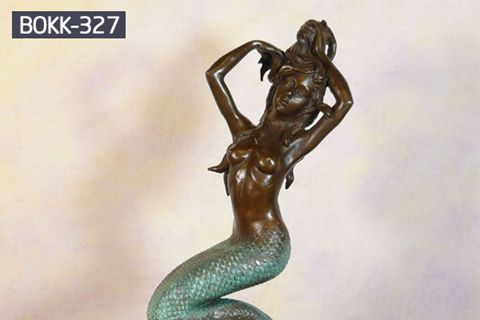Customized Decorative Bronze Mermaid Sculpture for Garden BOKK-327