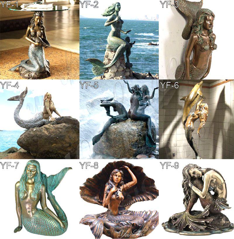Customized Decorative Bronze Mermaid Sculpture for Garden BOKK-327