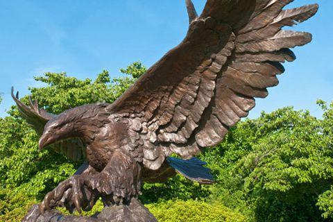 Large Winged Bronze Eagle Statue for Outdoor Decoration BOKK-338