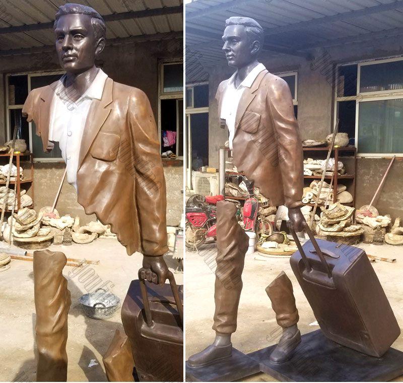 Perfect Bruno Catalano's Bronze Traveler Sculptures Surreal Sculptures BOKK-590