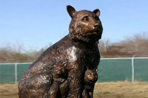 Customized Life Size Bronze Bear Sculpture from Factory Supply BOKK-676