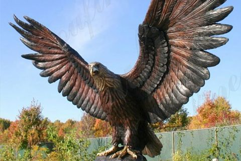 Life Size Bronze Eagle State for Outdoor Decoration BOKK-682