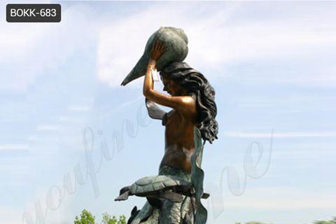 Life Size Bronze Mermaid Statue for Outdoor Decoration BOKK-683