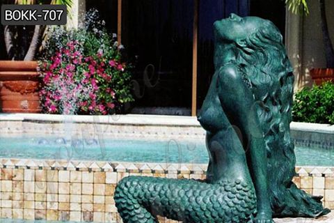 Customized Famous Bronze Mermaid Statue for Outdoor Decoration BOKK-707