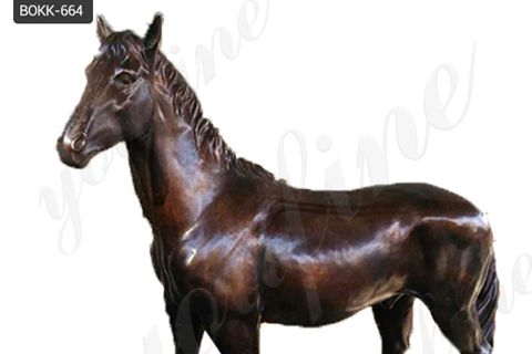 Classic Design Outdoor Decoration Bronze Horse Statue for Sale BOKK-644