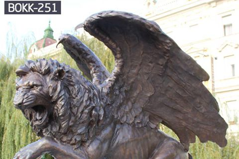 Large Casting Bronze Flying Lion Statue for Outdoor Decoration BOKK-251