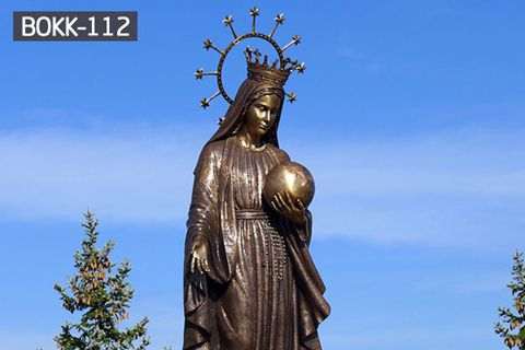 Outdoor Decorative Bronze Madonna Fatima Statue from Factory Supply BOKK-112