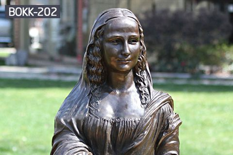 Beautiful Bronze Mona Lisa Bust Statue for Indoor BOKK-202