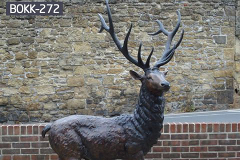 Customized Bronze Deer Statues Manufacturer BOKK-272