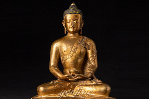 Support Customized Golden Bronze Buddha Statue Online Sale BOKK-714