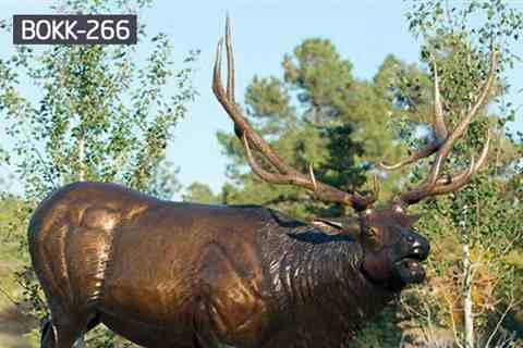 Life Size Exquisite Cast Bronze Elk Statue for Garden BOKK-266
