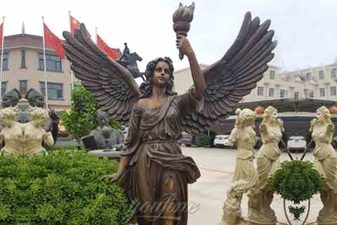 Beautifully Cast Life Size Bronze Female Angel Statue BOKK-5