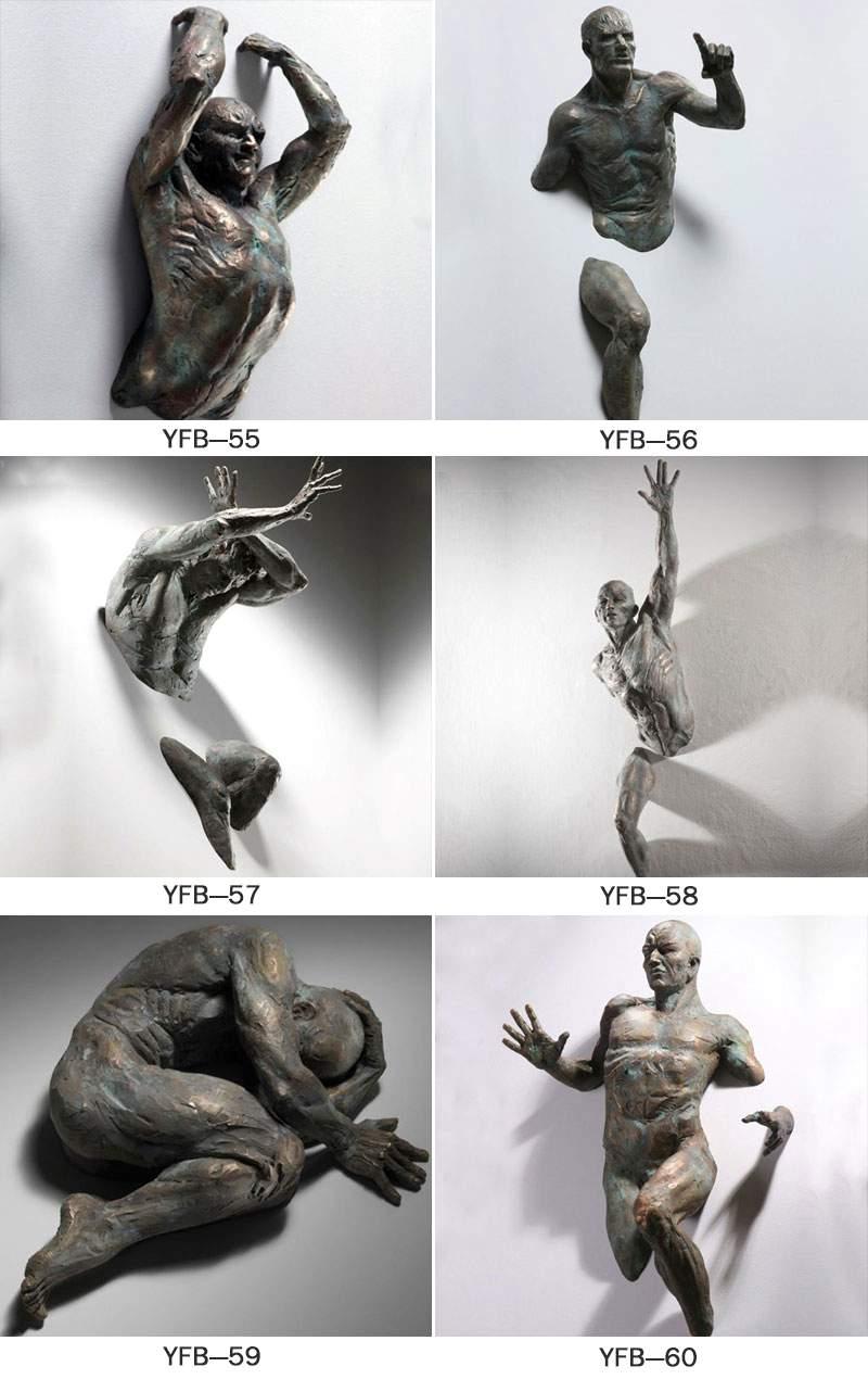 Hot Cast Classic Art Bronze Matteo Pugliese Wall Sculpture for Decoration BOKK-93