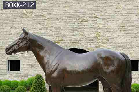 Hot Sale Life Size Bronze Horse Sculpture Metal Statue for Garden BOKK-212