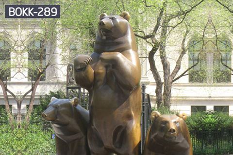 Exquisite Casting Life Size Bronze Bear Statue Animal Sculpture BOKK-289