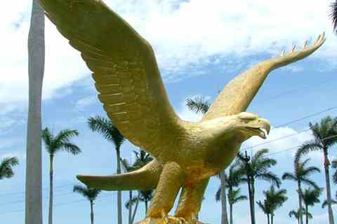 Life Size Golden Bronze Eagle Statue for Garden BOKK-341
