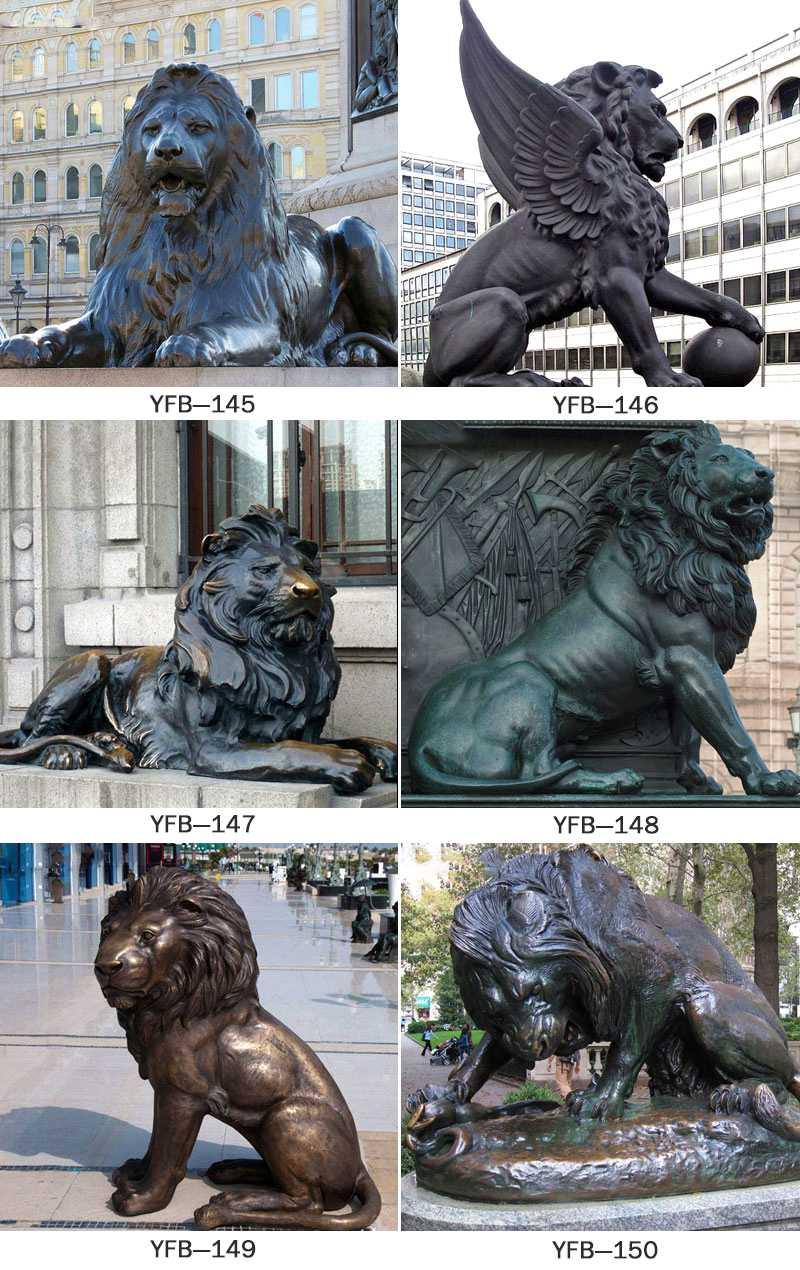 Hot Sale Classic Cast Bronze Lion Sculpture for Outdoor Decor BOKK-257